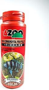 AZOO 9 in 1 Ornamental Fish Pellet for All Ornamental Fish Food 330ml