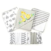 23 Piece Bath Giftset, Grey Animals