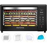 Food Dehydrator Machine, Elechomes 8-Tray Commercial Dehydrators with Free Accessories, 4 Presets for Fruit Meat Beef Jerky H