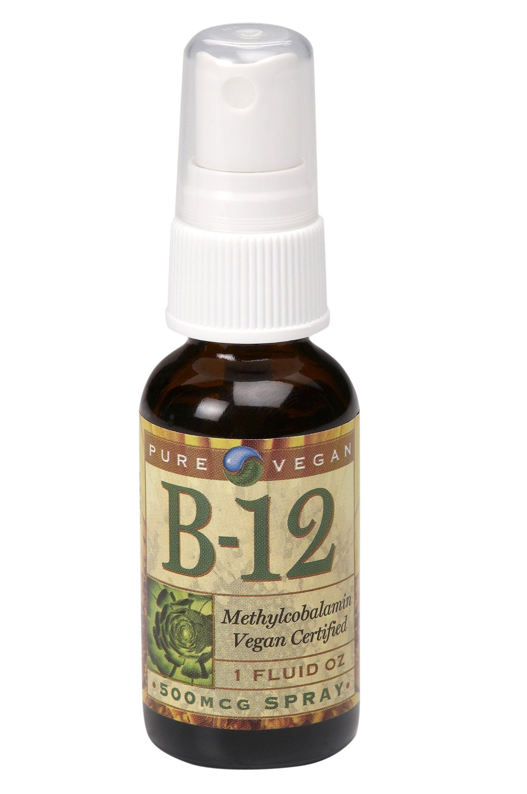 Pure Vegan Vitamin B12 Methylcobalamin Spray, 1 Ounce
