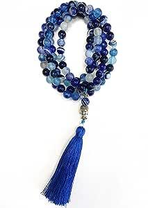 GOODFORYOU MEXICO Collar MEDITACION 108 Piedras Naturales 8 MM Mala Budista Tibetano