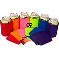 QualityPerfection 12 Multi Party Drink Blank Can Coolers(12 Bulk Pack) Blank Beer,Soda Coolies Sleeves | Soft,Insulated Coolers | 30 Colors | Perfect For DIY Projects,Holidays,Events