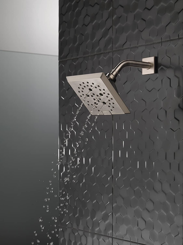 Delta 52664-BL H2Okinetic 5-Setting Raincan Shower head Matte Black