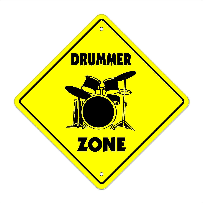 Amazon.com : Drummer-m Crossing Sign Zone Xing | Indoor/Outdoor | 12 ...