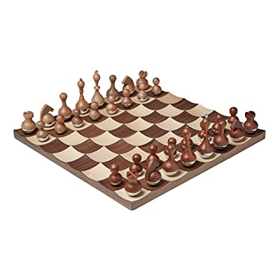 Umbra Wobble Chess Set, Brown: Home & Kitchen [5Bkhe1105421]