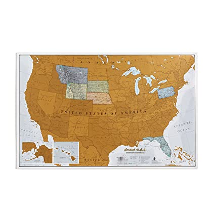 Amazon.com: Maps International Scratch Off Map of The US - USA Wall ...