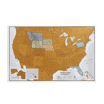 Amazon.com : Maps International Scratch Off Map Of The US - USA Wall ...