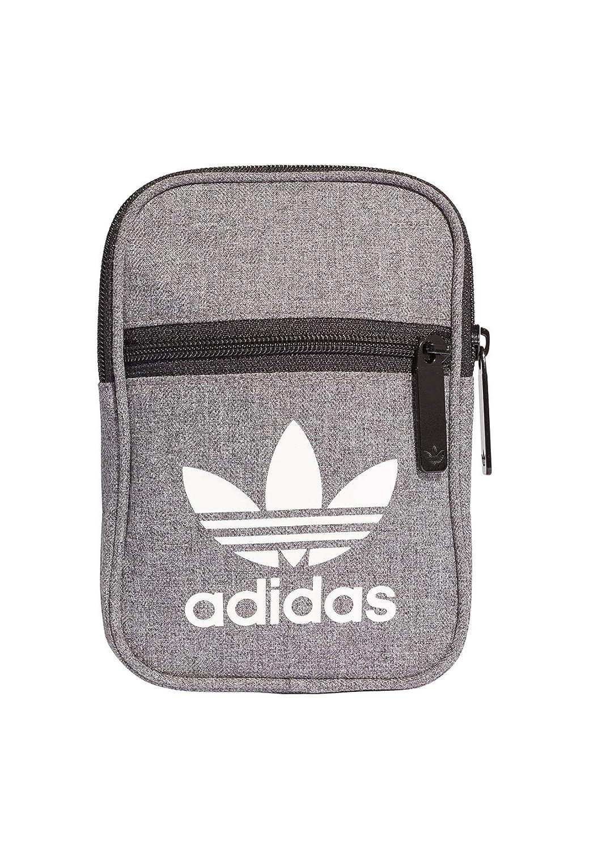 adidas Festival Hombre Cross Body Bag Gris Unisex Adulto Negro/Blanco 45 cm D98925