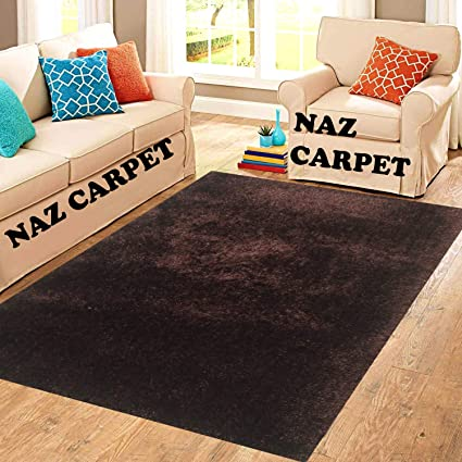 Buy Naz carpet Shaggy PVC Carpet in Your Living Room, Bedroom and Hall Room Size (4 x 6 Feet, Brown) Online at Low Prices in India - Amazon.in
