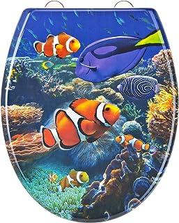 EISL Abattant WC en Duroplast Sea Life avec Frein de Chute et déclipsable, ED69SLIFE, Multicolore, 2,2 Kg