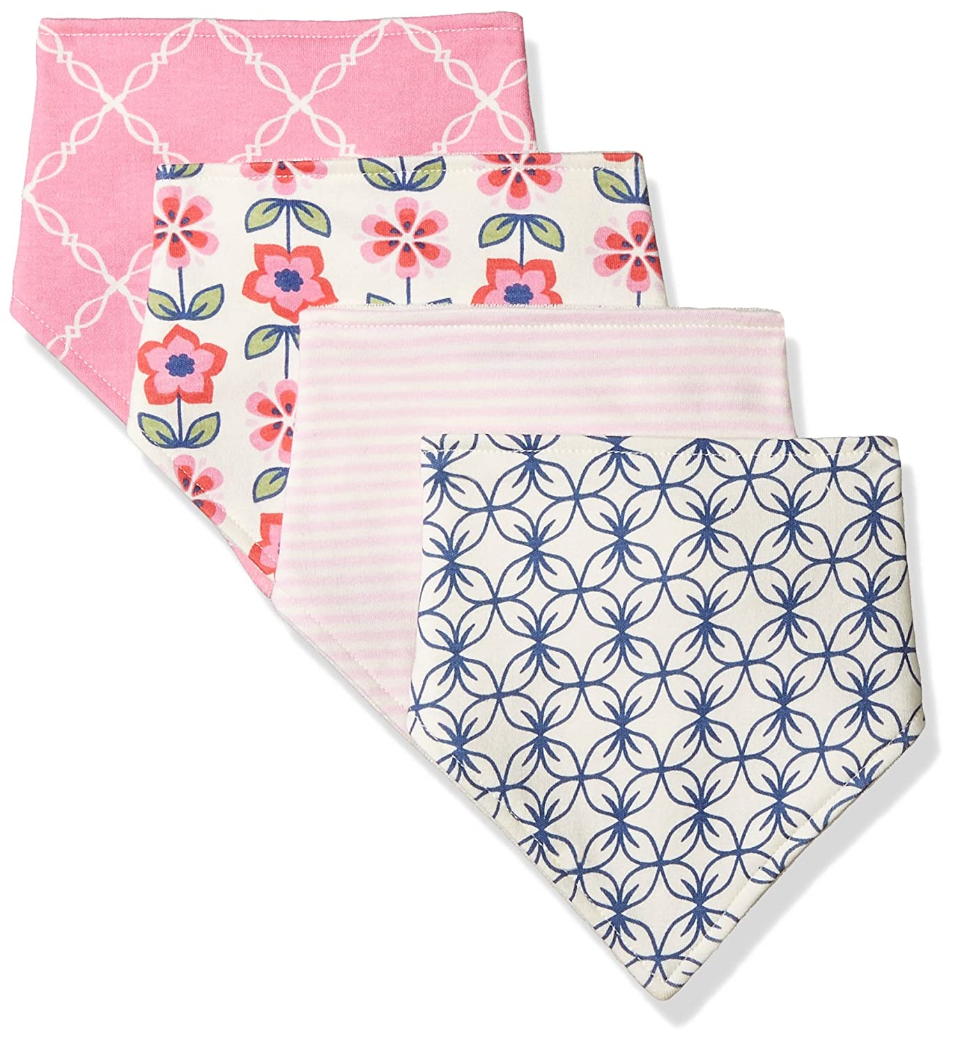 Touched by Nature Baby Organic Cotton Bandana Bibs, Bird 4Pk 0-9 Months 65002