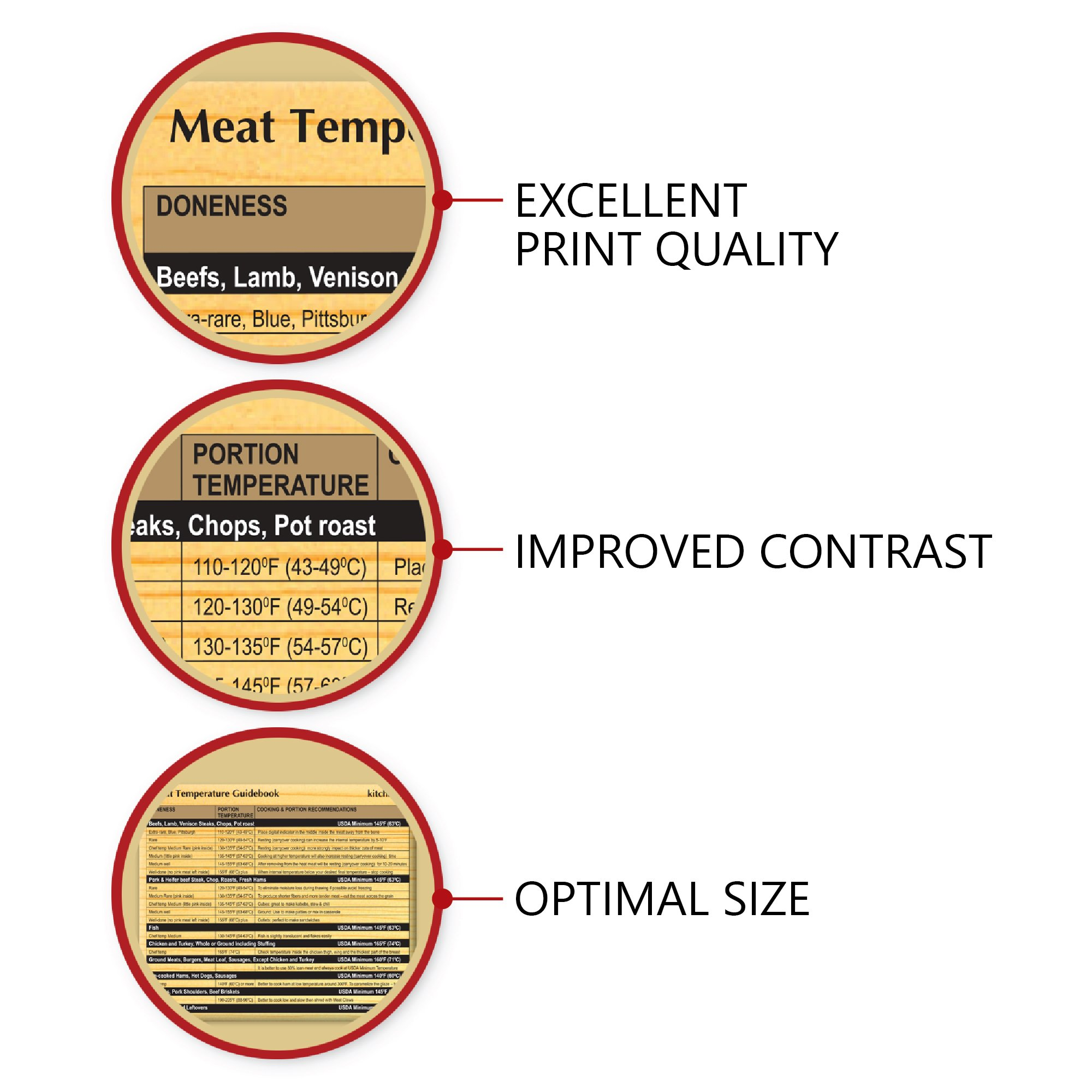 photo regarding Oven Temperature Conversion Chart Printable named Meat Thermometer Magnet - Fridge Temp Grill Magnet
