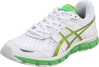 ASICS Women's GEL-Blur33 Running Shoe,White/Kiwi/Apple Green,6