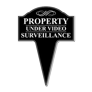 MRC Wood Products Property Under Video Surveillance Aluminum Yard Sign with Stake Included 10x14