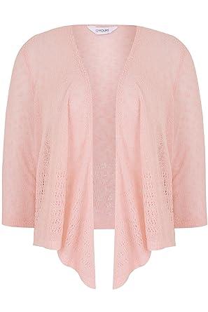 Yours Clothing Women/'s Plus Size White Popcorn Crochet Cropped Shrug