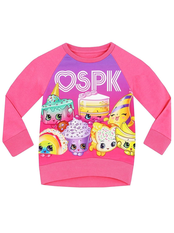Shopkins Girls Sweatshirt Ages 3 to 13 Years
