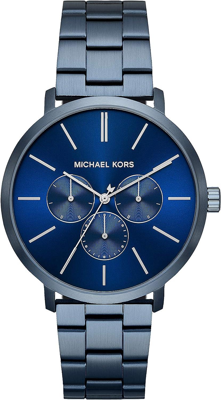 Michael Kors Reloj Analógico para Hombre de Cuarzo con Correa en Acero Inoxidable MK8704