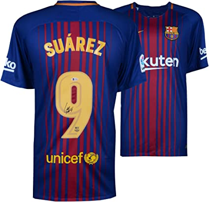 ffe7b4c5a89 Luis Suarez Barcelona Autographed Nike Home Jersey - Fanatics Authentic  Certified - Autographed Soccer Jerseys at Amazon's Sports Collectibles Store