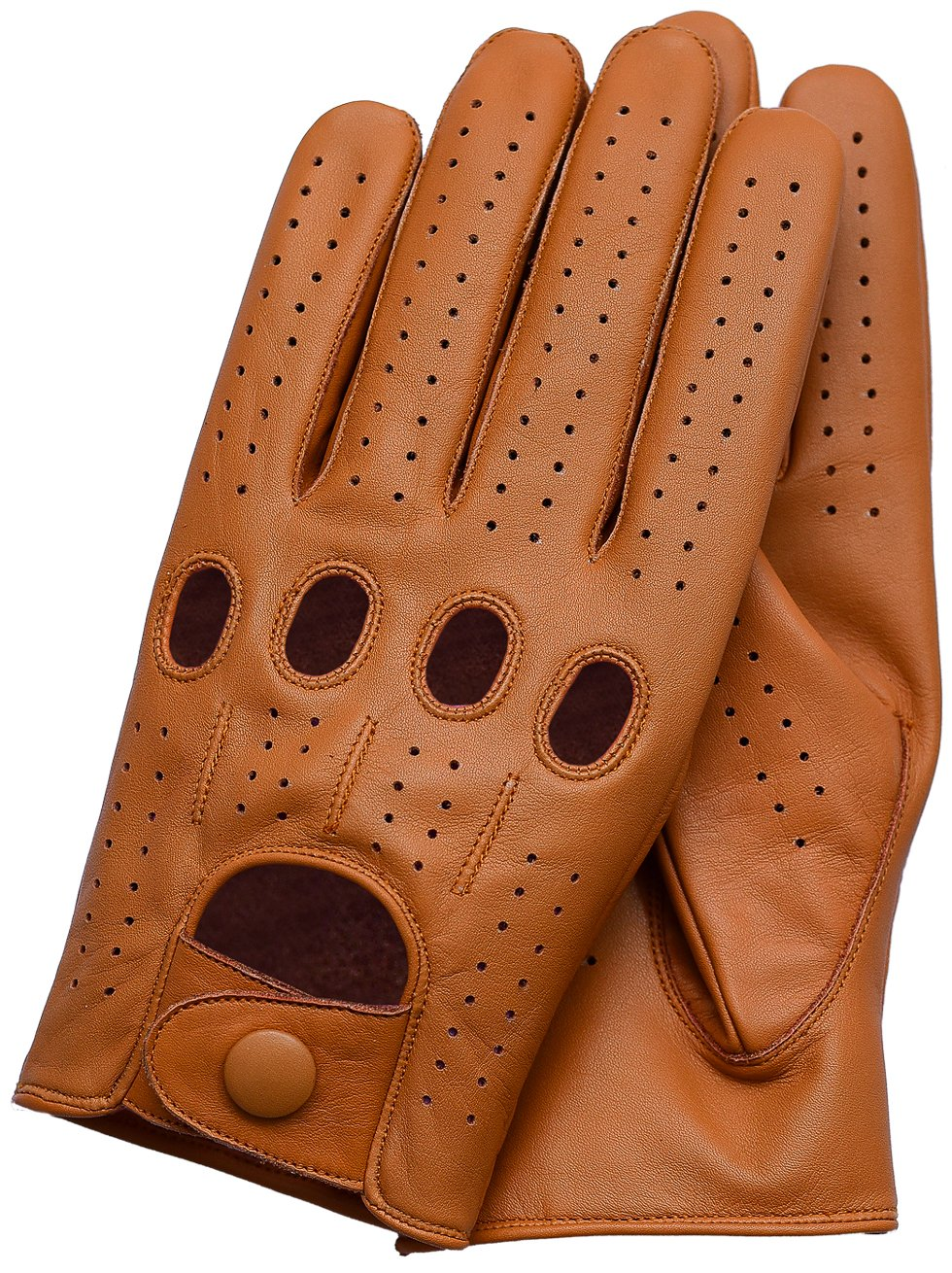 Riparo Genuine Leather Driving Gloves (Large, Tan)