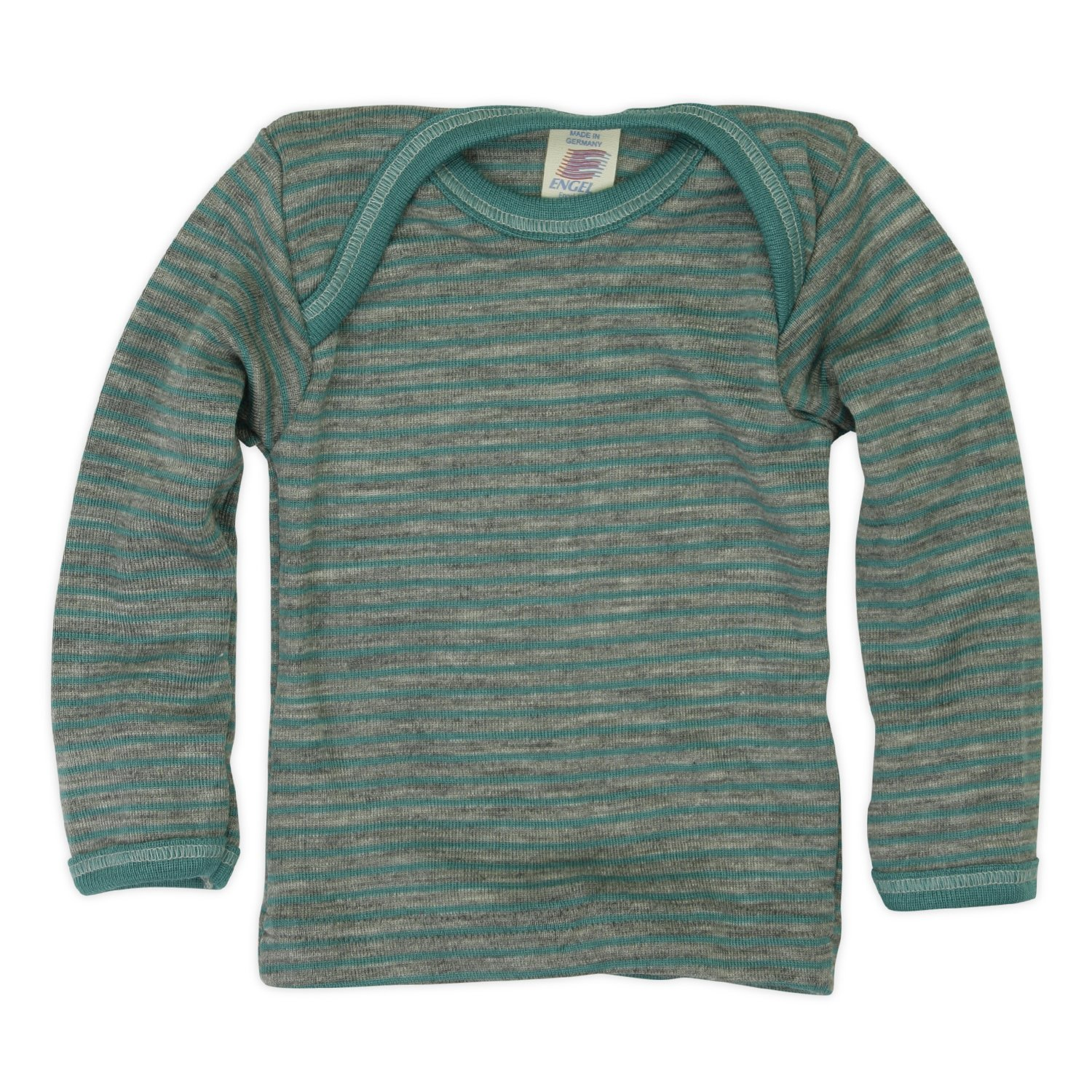 Engel - Baby T-Shirt, Long Sleeves, 70% Organic Merino Wool, 30% Silk