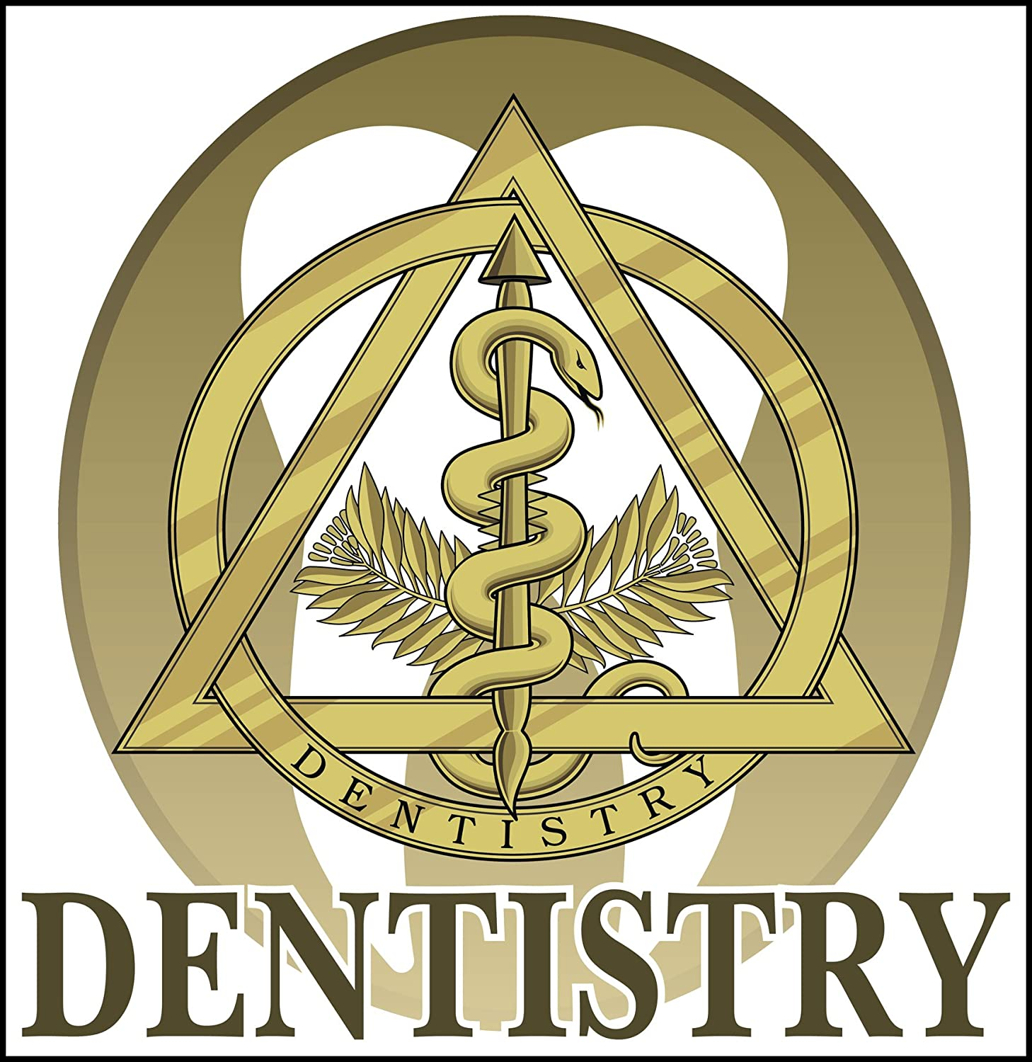 Amazon Abstract Dentistry Professional Healthcare Gold Symbol