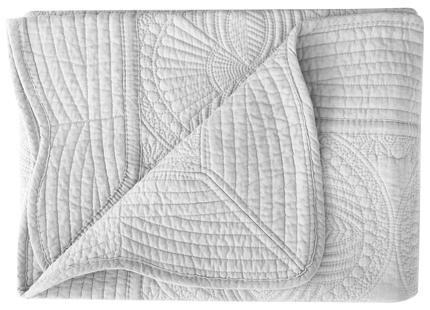 Khaki 36 inches x48 inches AshopZ Lightweight All Weather Embossed Quilt for Baby Infant