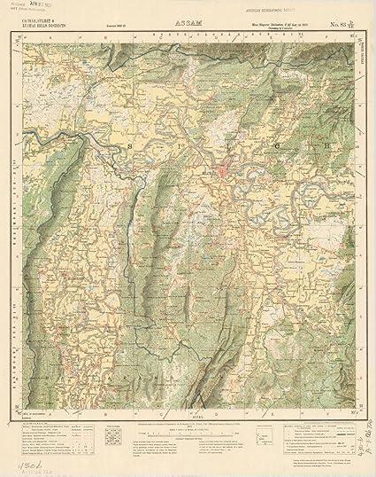 Amazon Com Historic Map Cachar Sylhet Lushai Hills Districts