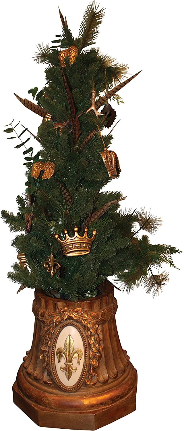 Christmas Tree Stand Green Metal Holder Base Cast Iron Stand 4 Feet Decors WL