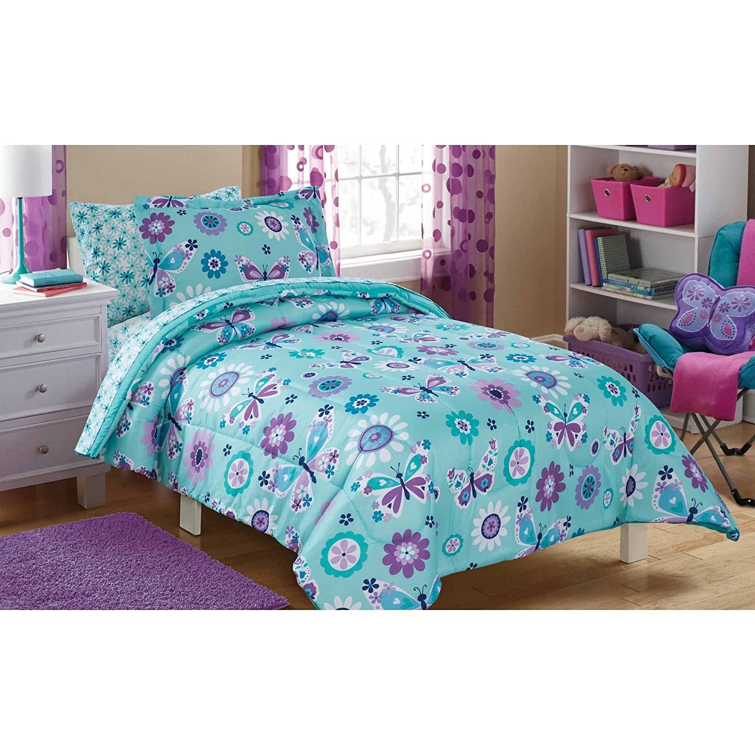 Amazon Cute Stylish and Trendy Mainstays Kids Butterfly Floral