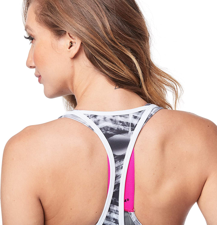 STRONG by Zumba Damen Top Womens Open Back Tank Top with Soft Lightweight Fabric