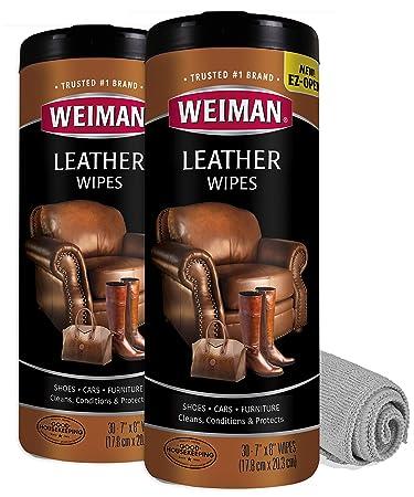 Amazon.com: Weiman - Toallitas de piel (2 unidades, con ...