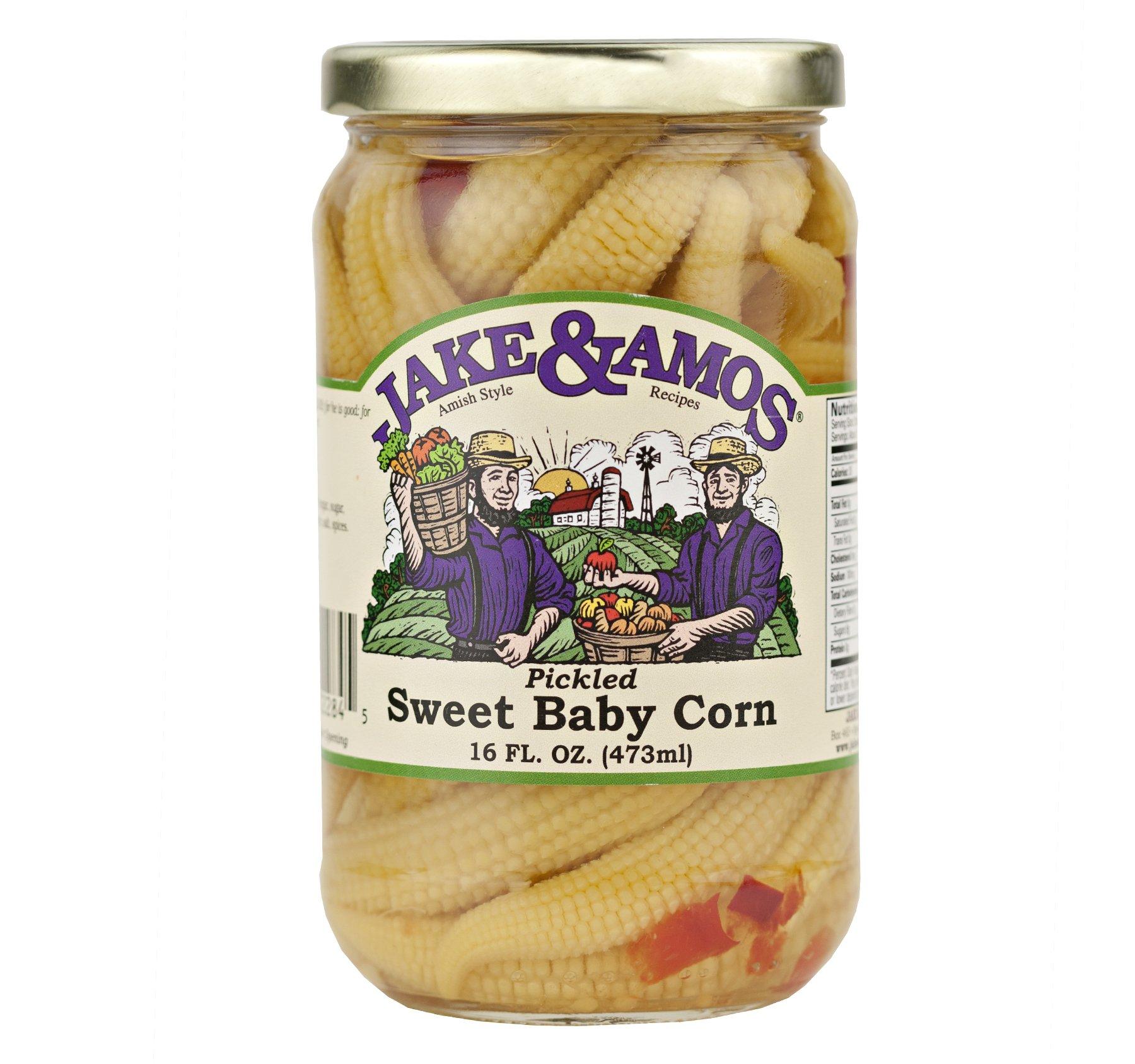 Jake & Amos Pickled Sweet Baby Corn 16 oz. (3 Jars)