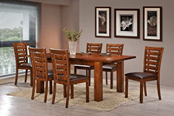 Holland House Pearington Peacan Oak Finish Dining Chair With Upholstered Seat Set Of 2