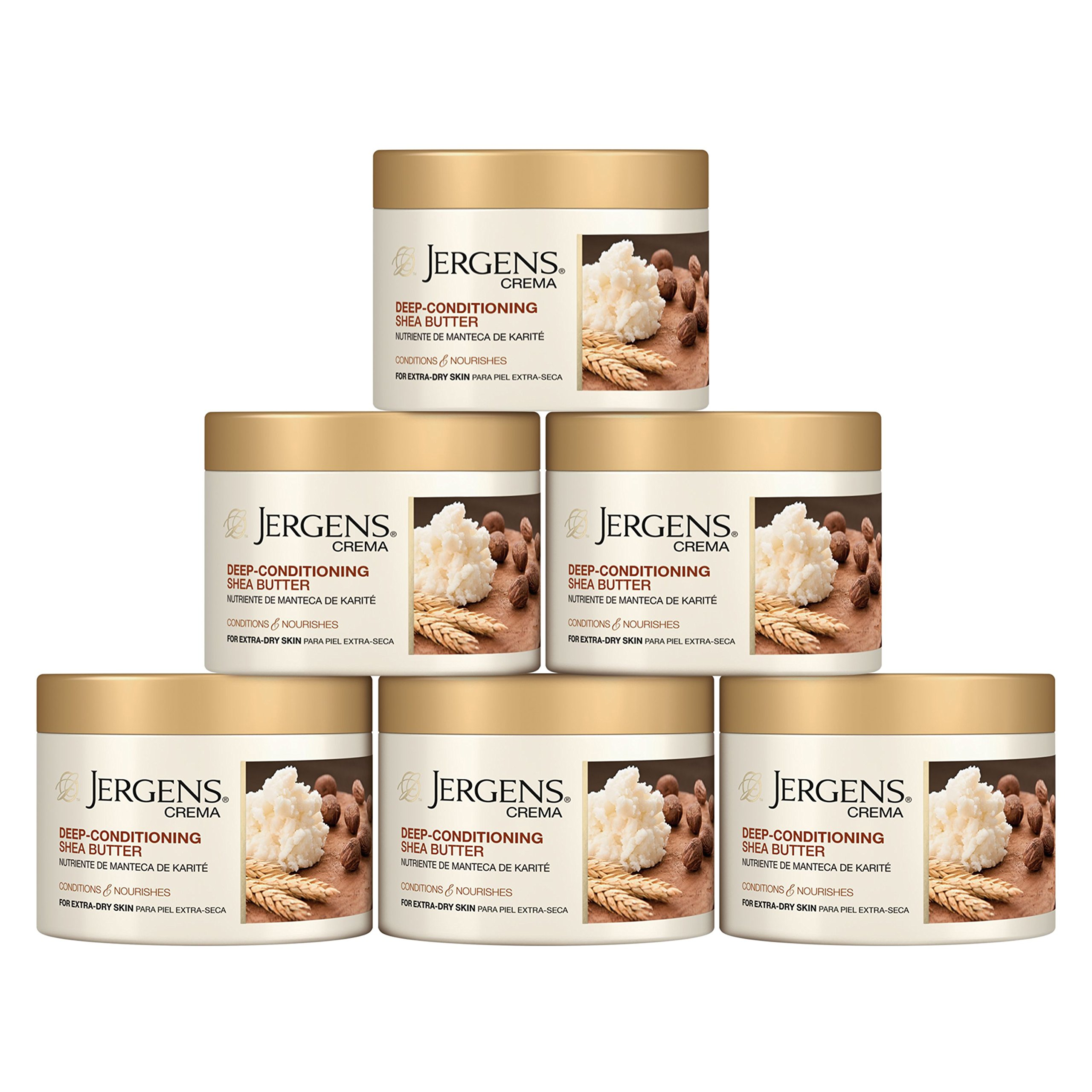 Jergens Crema Deep-Conditioning Shea Butter Body Cream with Oatmeal, 8 Ounces (Pack