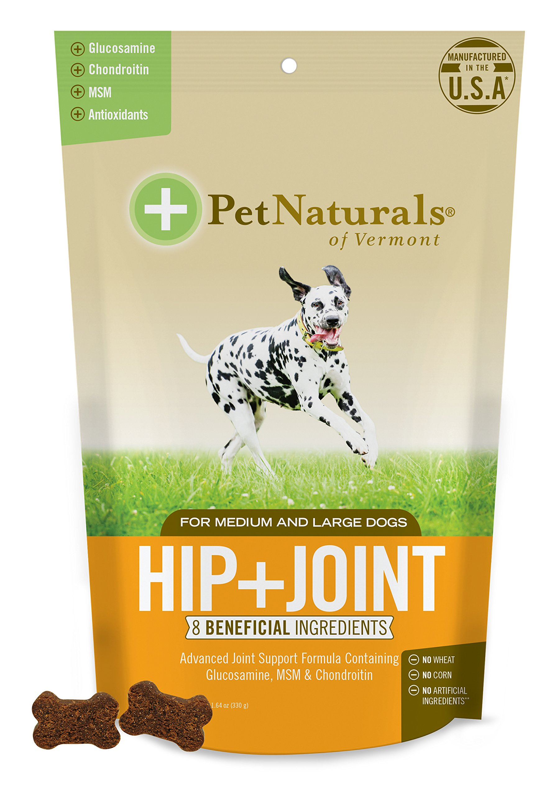 Pet Naturals of Vermont - Hip + Joint, Joint Supplement for Medium & Large Dogs, 60 Bite-Sized Chews