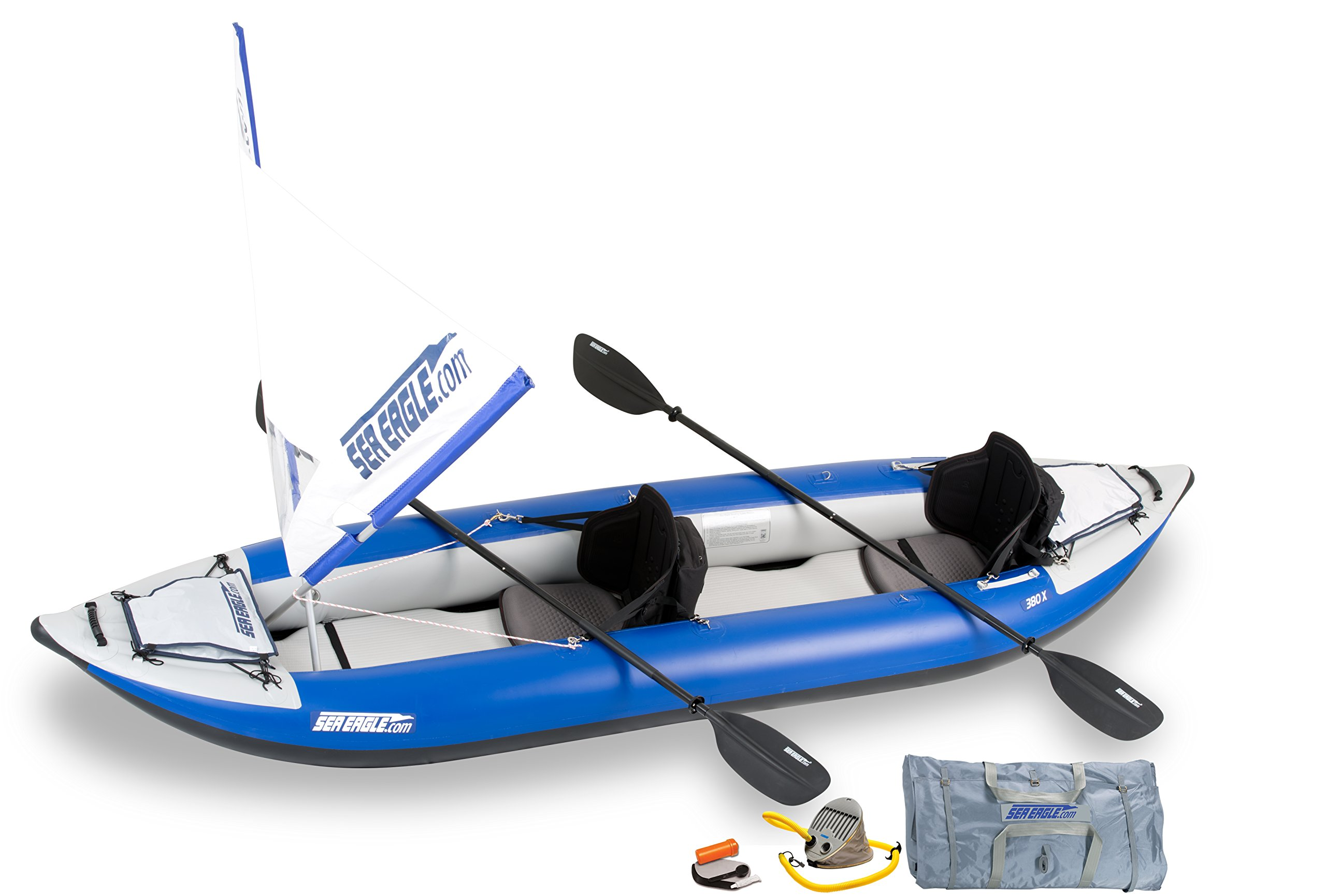 Sea Eagle 380x Inflatable Explorer Kayak QuikSail Package by Sea Eagle
