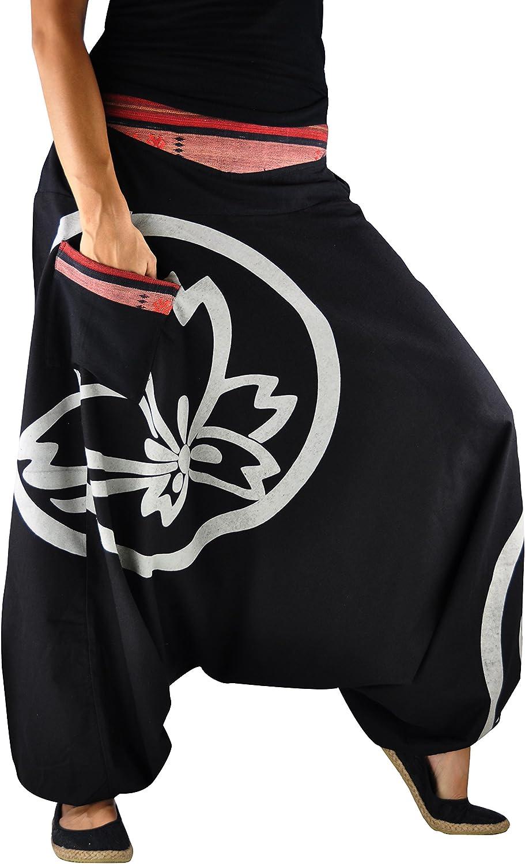 virblatt Pantalones Bombacho Mujer Yoga cagados como pantalón ...