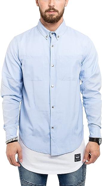 Phoenix Hombre Camisa a Cuadros Franela Tartán Rojo Negro Azul Blanco SML XL