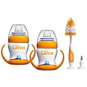 Munchkin Latch 4 Ounce Transition Trainer Cups with Deluxe Brush