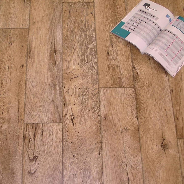 Breite: 200 cm x L/änge: 200 cm PVC Bodenbelag Holz Rustikal Natur 11,90 /€ p. m/²
