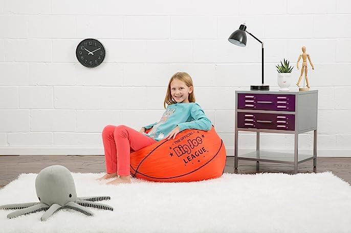 Big Joe Basketball Bean Bag With Smart Max Fabric Amazonca Home Kitchen