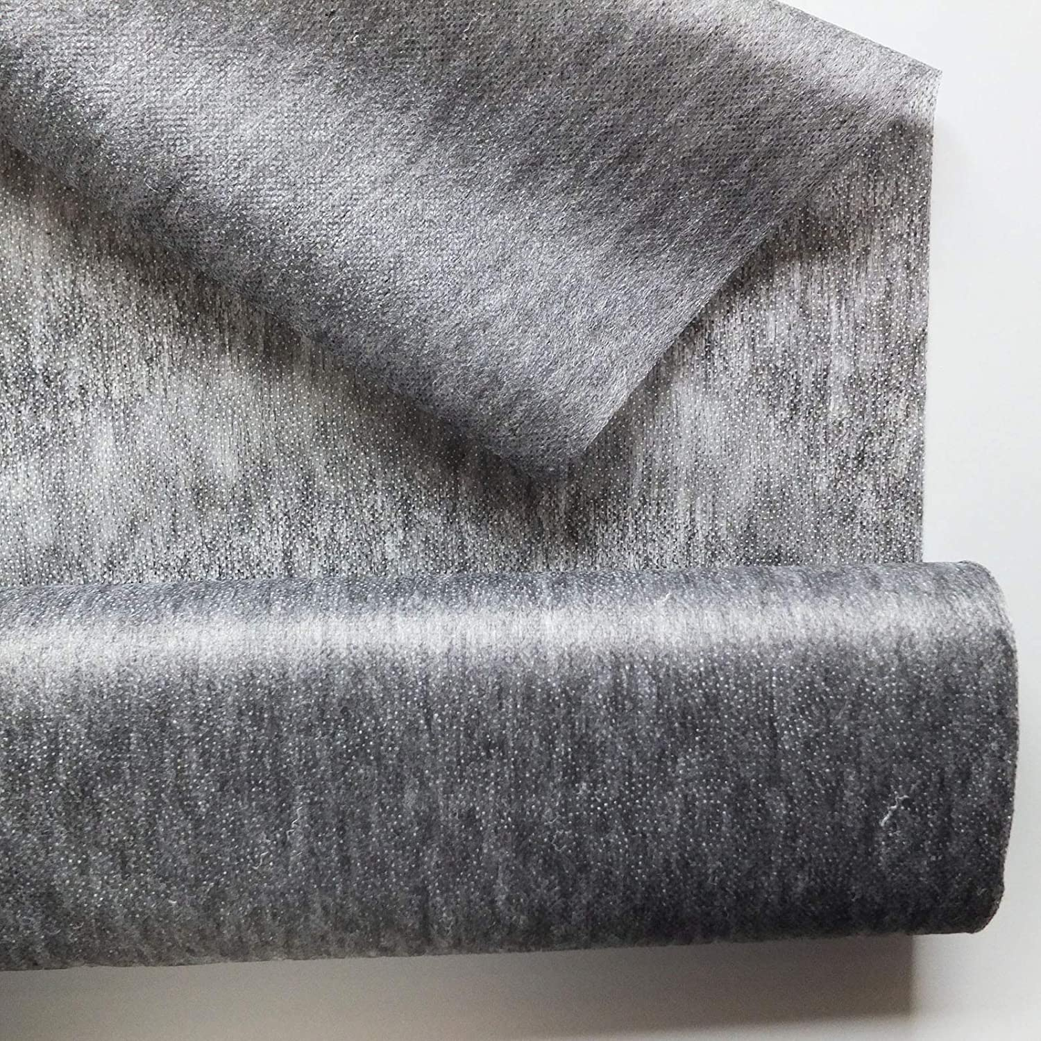 Charcoal Light weight fusible iron on interfacing (for use on BLACK and other dark colours) sold by the metre On Trend Fabrics