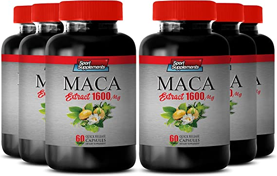 Amazon.com: Strength Muscle and Power - Vitamins for Men Testosterone - MACA Extract 1600 MG