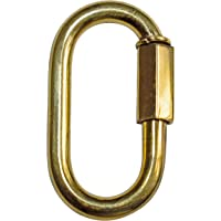 RCH Hardware QL-BR01-35 Brass Quick Link, 8 Gauge, Polished Brass (2 Pack)