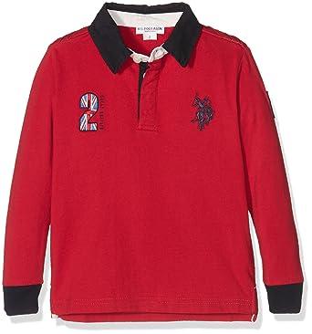 U.S.POLO ASSN. GBR USPA Polo LS, T-Shirt para Niñas, Rojo (Rosso ...