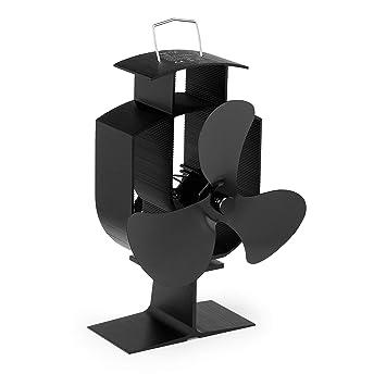 NETTA Ventilador de 3 aspas para estufa de leña o chimenea - Respetuoso con el medio ambiente: Amazon.es: Bricolaje y herramientas