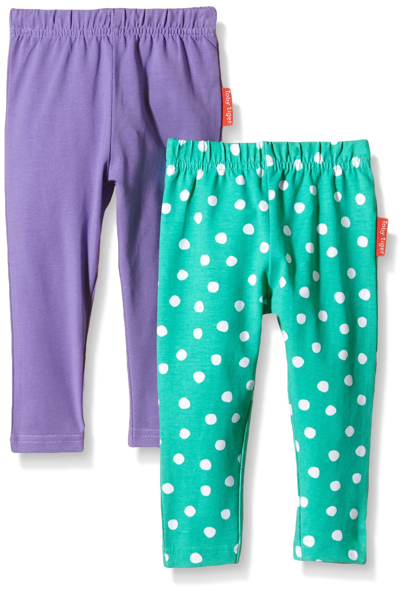 Toby Tiger Green and Purple Leggings 2 Pack (2-3 Years)