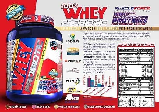 100% Whey Probiotic Sabor: Vainilla y Caramelo Contenido ...