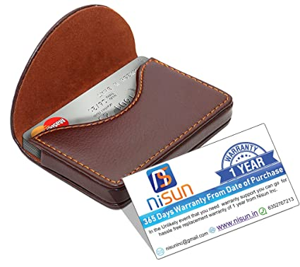 Nisun leather pocket sized businesscreditname card holder case nisun leather pocket sized businesscreditname card holder case wallet with magnetic shut reheart Gallery