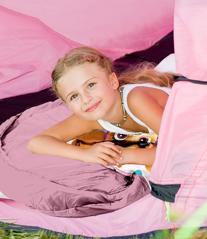 SkyBrands con zaino 70 x 140 cm Sacco a pelo per bambini Paw Patrol pratico certificato /Öko-Tex